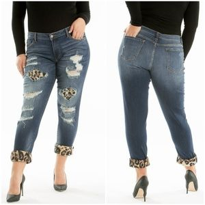 NEW Plus Size Kancan Distressed Jeans